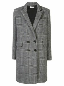 Beau Souci check patterned double-breasted coat - Grey