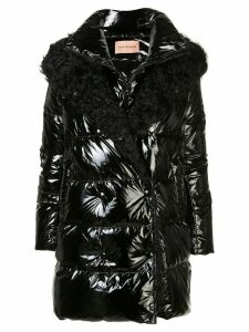 Yves Salomon hooded fur-trimmed coat - Black