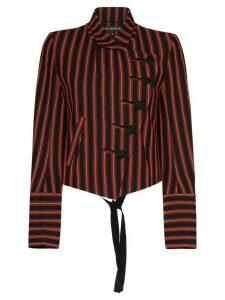 Ann Demeulemeester striped asymmetric blazer - Black