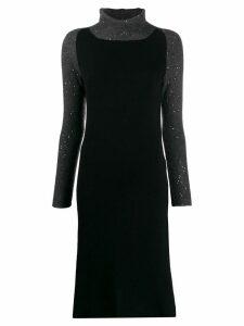 Fabiana Filippi roll neck dress - Black