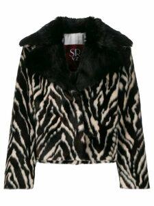Simonetta Ravizza oversized animal print jacket - Brown