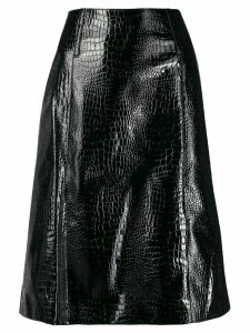 We11done A-line flared skirt - Black