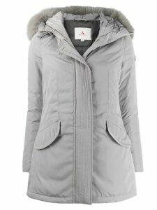 Peuterey fox-fur hooded coat - Grey