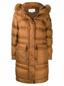 Peuterey hooded down coat - Brown