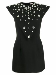 Christopher Kane crystal gem mini dress - Black