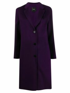 Theory long double-faced coat - PURPLE