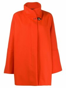Fay oversized high-neck coat - Orange