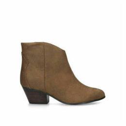 Nine West Tristin - Brown Block Heel Ankle Boots