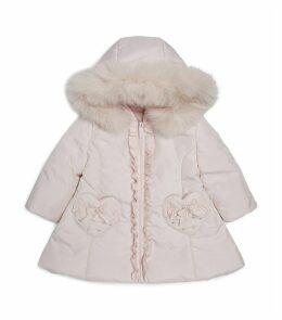 Heart Pocket Fur Hood Coat
