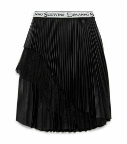 Asymmetrical Plissé Skirt