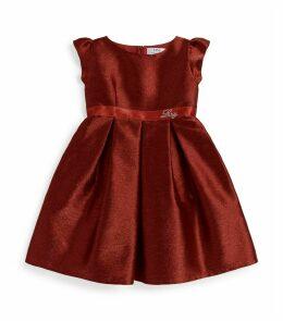 Glitter Cap-Sleeved Dress