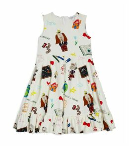 Animal Character Patterned Dress