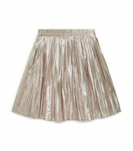 Metallic Pleated Paola Skirt