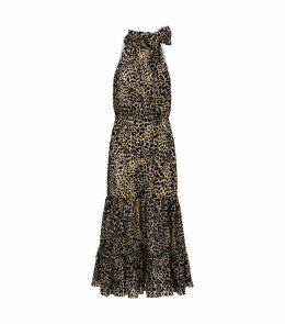Eleanor Leopard Print Maxi Dress