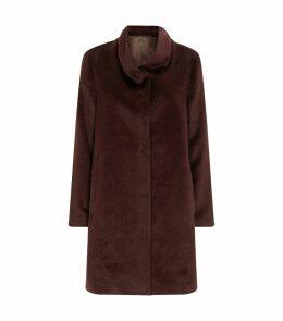 Alpaca Wool-Blend Coat