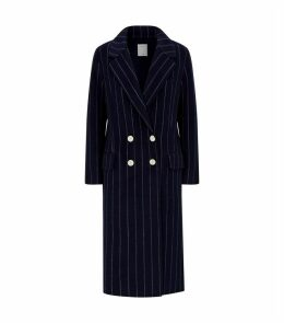 Stripe Double-Breasted Coat