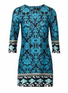 Womens *Izabel London Multi Coloured Wallpaper Print Shift Dress- Blue, Blue