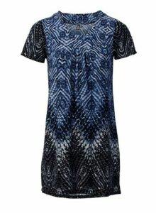 Womens *Izabel London Multi Coloured Tribal Print Shift Dress- Blue, Blue