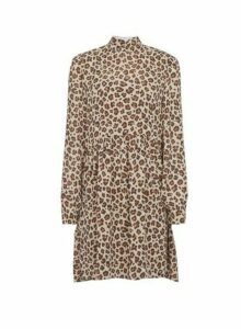 Womens **Vila Multi Colour Leopard Print Swing Dress, Leopard
