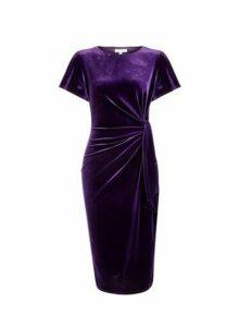 Womens **Lily & Franc Purple Manipulated Dress, Purple