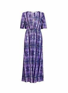 Womens *Dp Beach Purple Tie Dye Maxi Dress, Purple