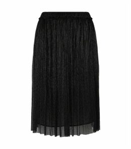 Beatrice Metallic Pleated Skirt