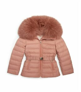 Fox Fur Trim Puffer Coat