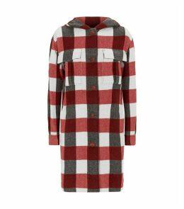 Beck Hooded Check-Print Coat