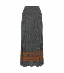 Knitted Lurex Midi Skirt