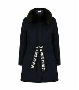 Faux Fur-Trim Coat
