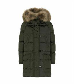 Reversible Fox Fur Trim Coat