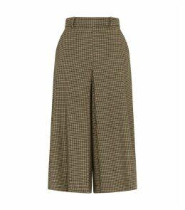 Houndstooth Divided Skirt