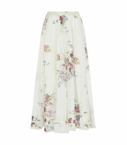 Navya Floral Midi Skirt