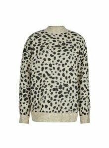 Womens **Tall Multi Coloured Cheetah Print Spandex Jumper- Animal, Animal