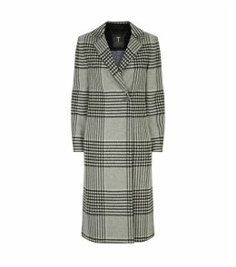 Celinna Check Straight-Cut Coat