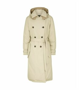 Marcelle Double-Breasted Reversible Parka Coat