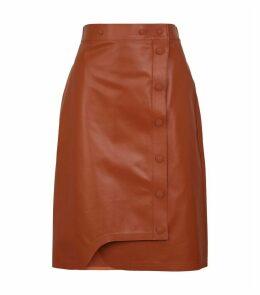Leather Riviera Midi Skirt