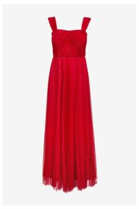 Womens Phase Eight Red Tori Pleated Dress -  Red