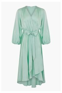 Womens Ghost London Blue Aggie Satin Dress -  Blue