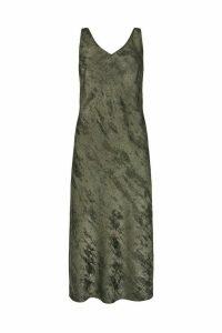 Womens Mint Velvet Pewter Shimmer Slip Midi Dress -  Grey