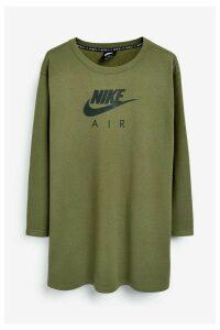 Womens Nike Curve Air Crew Dress -  Green