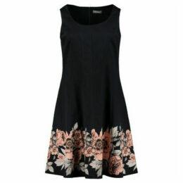 Ulla Popken  Floral print dress  women's Dress in Black