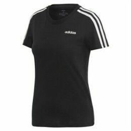 adidas  W Essential 3S Slim Tee  women's T shirt in Black
