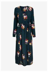 Womens Joules Blue Chloe Fixed Wrap Dress -  Blue