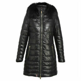 Oakwood  Long down jacket in lambskin  women's Coat in Black