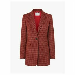 L.K.Bennett Ingrid Check Blazer, Multi/Orange