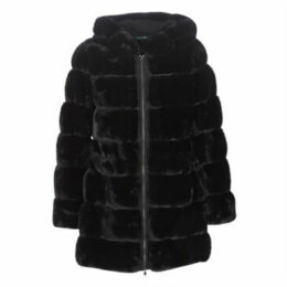 Lauren Ralph Lauren  HD STK FXFUR  women's Coat in Black
