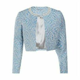 Gina Bacconi Jacquard Jacket, Blue