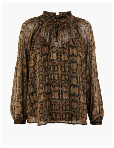 M&S Collection Animal Print Blouse