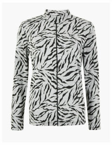 M&S Collection Zebra Print Long Sleeve Top